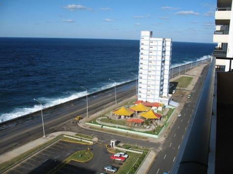The Malecon, the seawall in Havana.
