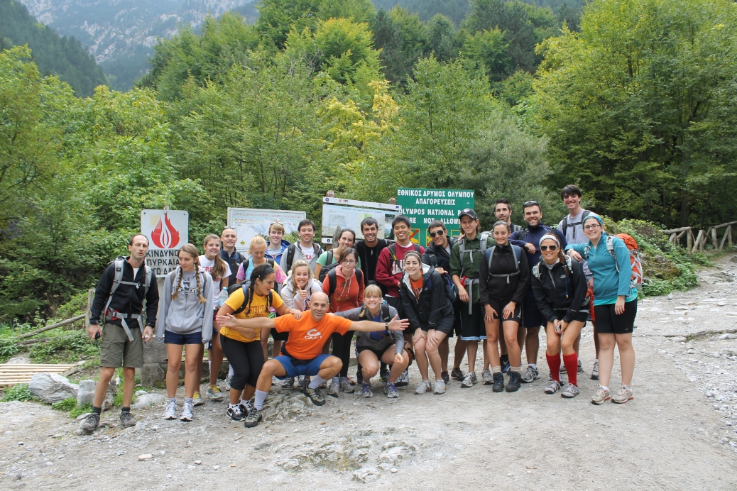 Group shot at our starting point.