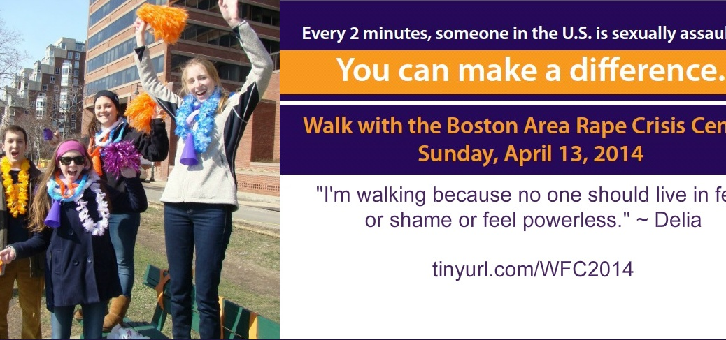 BARCC Walk for Change 2014 sexual assault rape Boston Area Rape Crisis Center