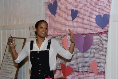 An image I uploaded to this blog via Eye-fi, of spoken word artist Jasmine.